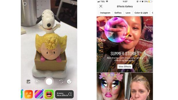 Cara Pakai Berbagai Filter AR InstaStories Baru di Instagram