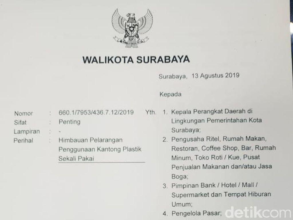 Larang Penggunaan Kantong Plastik di Surabaya, Ini Lima Imbauan Risma