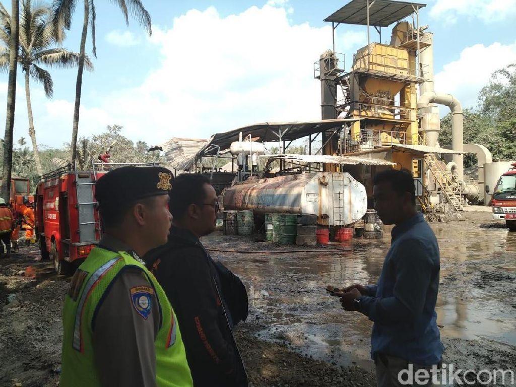 Pabrik Pengolahan Aspal di Malang Terbakar, Satu Orang Luka