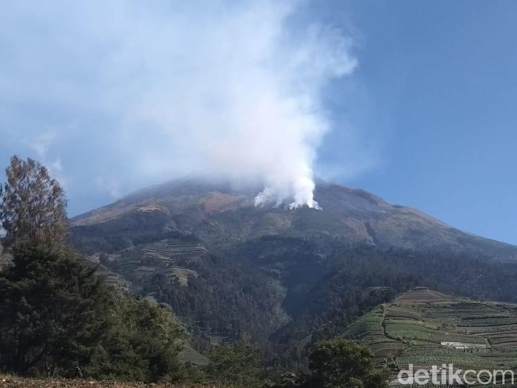 Kebakaran Gunung Sumbing, Pengelola Pastikan Semua Pendaki Telah Turun