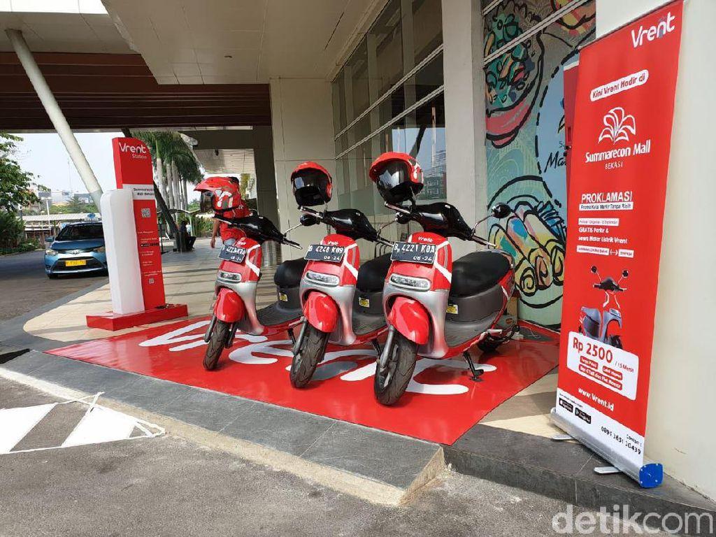 Sewa Motor Listrik di Bekasi Mulai Rp 2.500