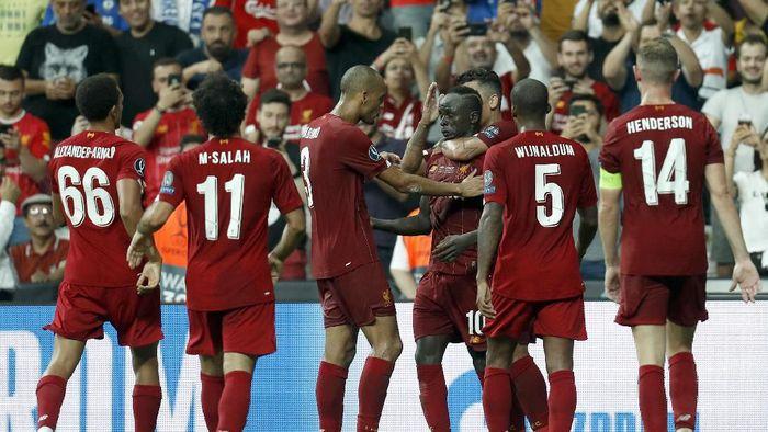 Liverpool juara Piala Super Eropa 2019 usai kalahkan Chelsea lewat adu penalti (AP Photo/Lefteris Pitarakis)