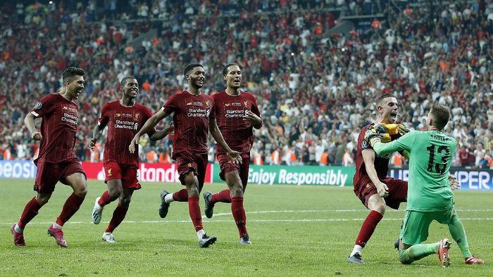 Liverpool raih trofi Eropa lagi di Istanbul lewat adu penalti setelah tertinggal di babak pertama (AP Photo/Lefteris Pitarakis)