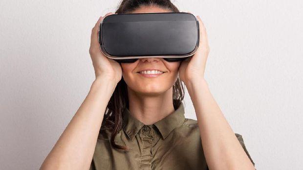 ilustrasi virtual reality/