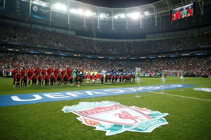 Pertandingan Piala Super Eropa antara Liverpool vs Chelsea digelar di Vodafone Park, Kamis (15/8/2019) dini hari WIB. Reuters/John Sibley.