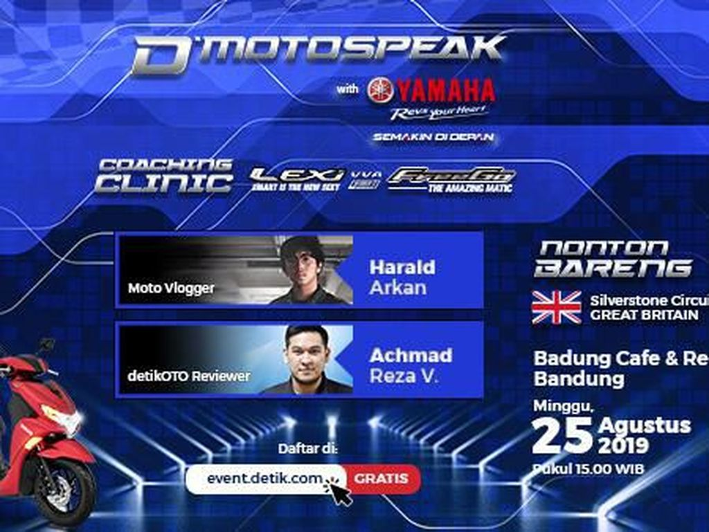 Yuk, Ikut Bedah Yamaha Freego dan Lexi Terus Nobar MotoGP Inggris