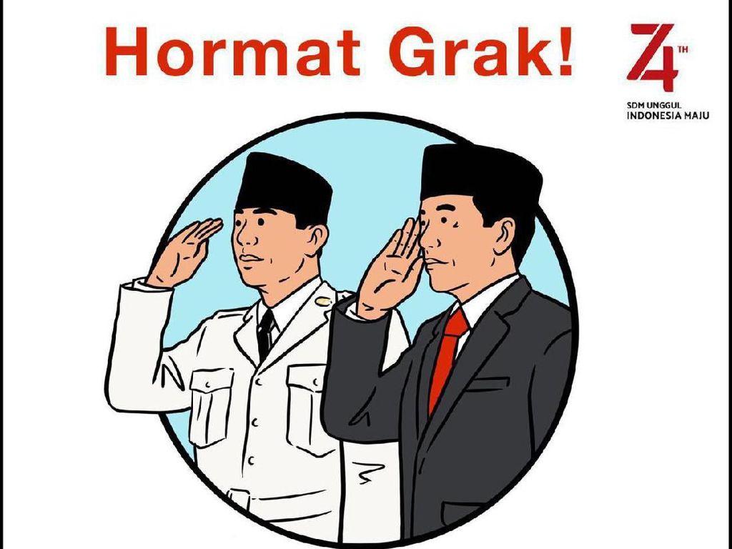 Bung Karno dan Jokowi Pimpin Upacara 17 Agustus