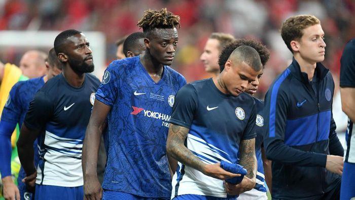 Kegagalan eksekusi penalti Tammy Abraham jadi penyebab kekalahan Chelsea dari Liverpool di Piala Super Eropa (Foto: Michael Regan/Getty Images)