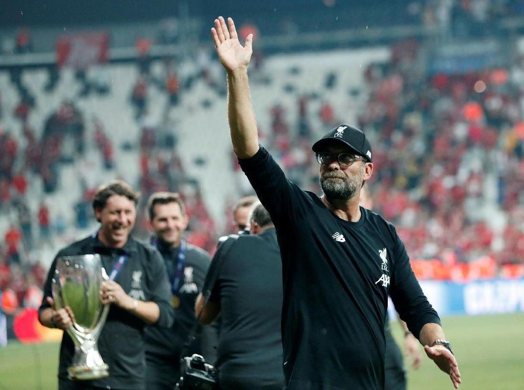 Klopp Pelatih Asal Jerman Pertama yang Menangi Piala Super Eropa