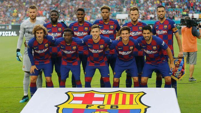 Barcelona menuju LaLiga 2019/2020. (Foto: Michael Reaves/Getty Images)