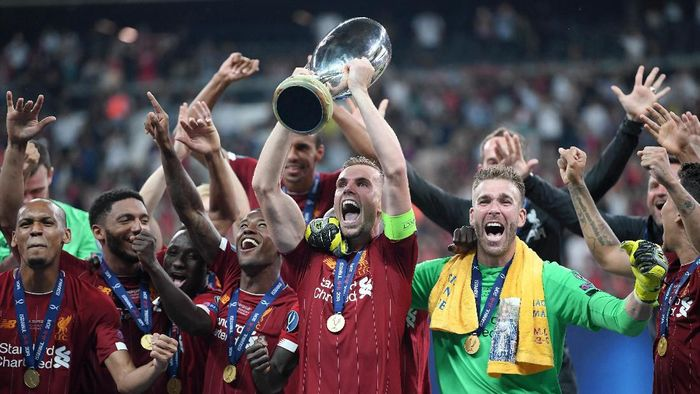 Liverpool juara Piala Super Eropa. (Foto: Michael Regan/Getty Images)
