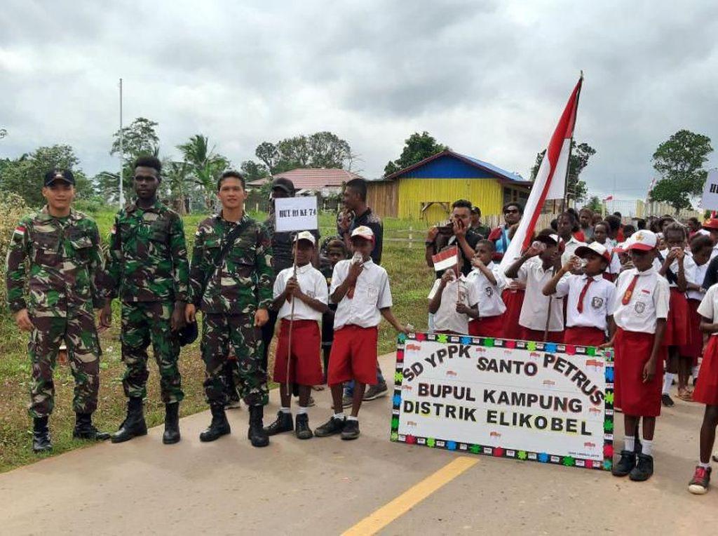 Karnaval HUT RI di Perbatasan Indonesia-Papua Nugini