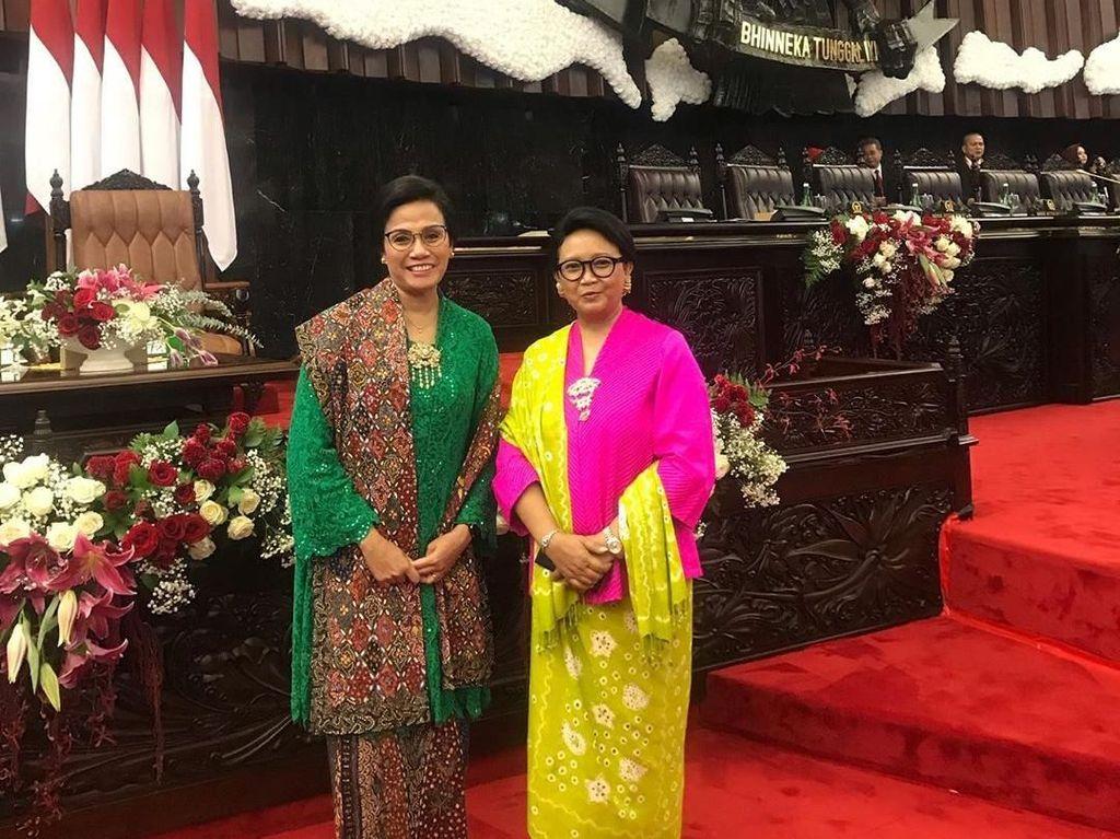Deretan Gaya Menteri Perempuan Jokowi di Sidang MPR, Susi Paling Beda