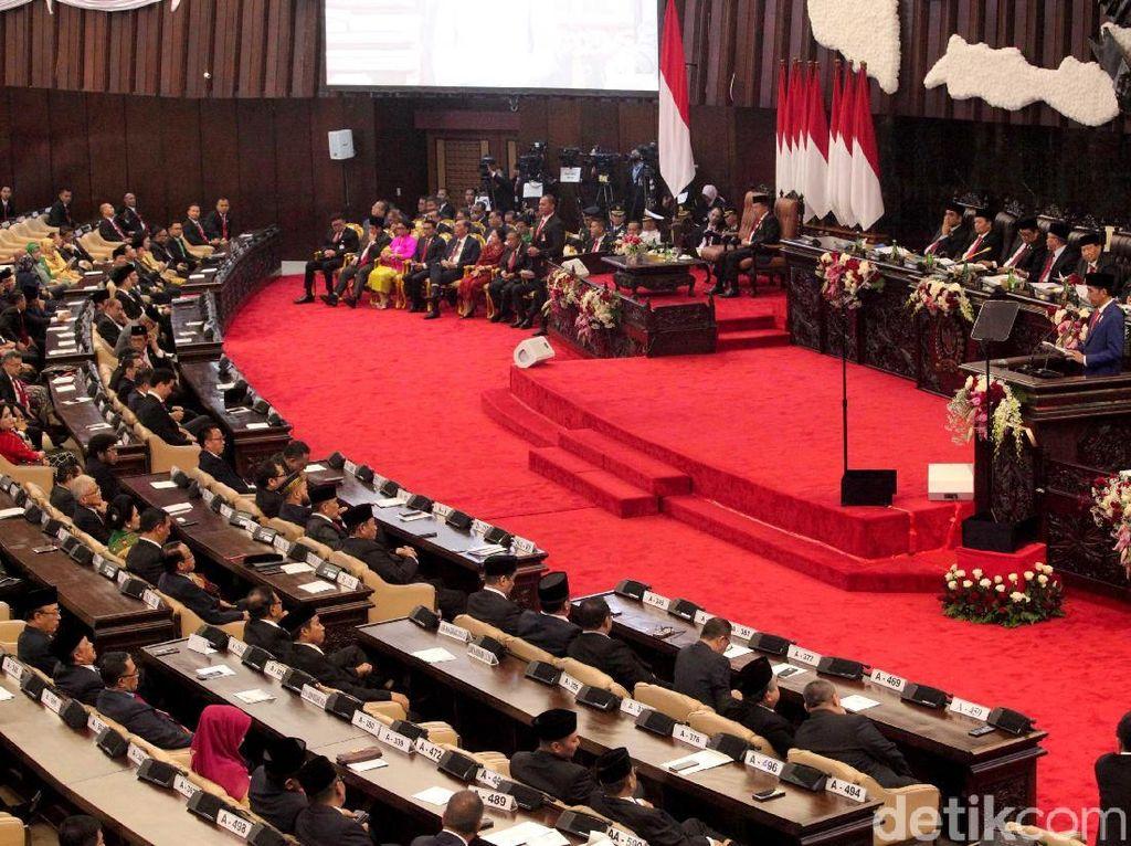 Area Kandidat Ibu Kota Terselip di Doa Sidang Lembaga Tinggi Negara