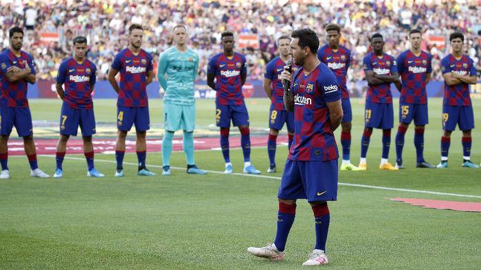 Lionel Messi dipastikan absen saat Barcelona hadapi Bilbao di pekan pertama LaLiga (AP Photo/Joan Monfort)