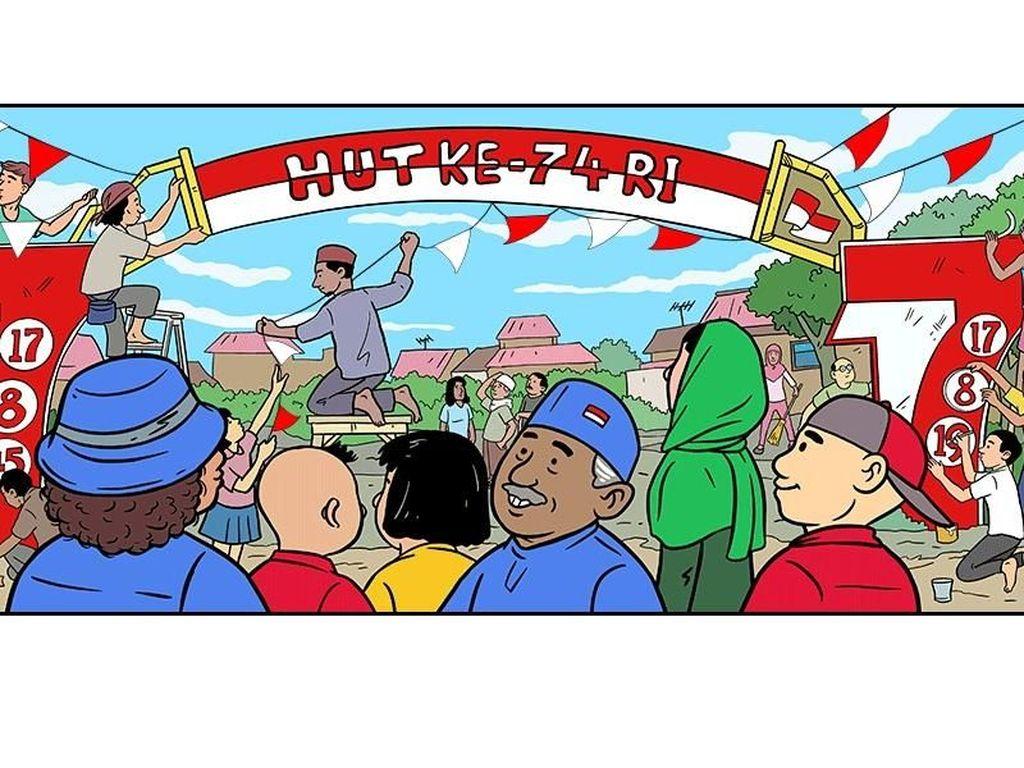 Ilustrasi Gapura Merah Putih Hari Prast Jadi Google Doodle