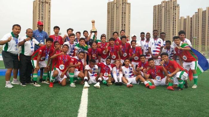 Tim Pelajar U-16 juara di Gothia Cup 2019. (Foto: Istimewa)
