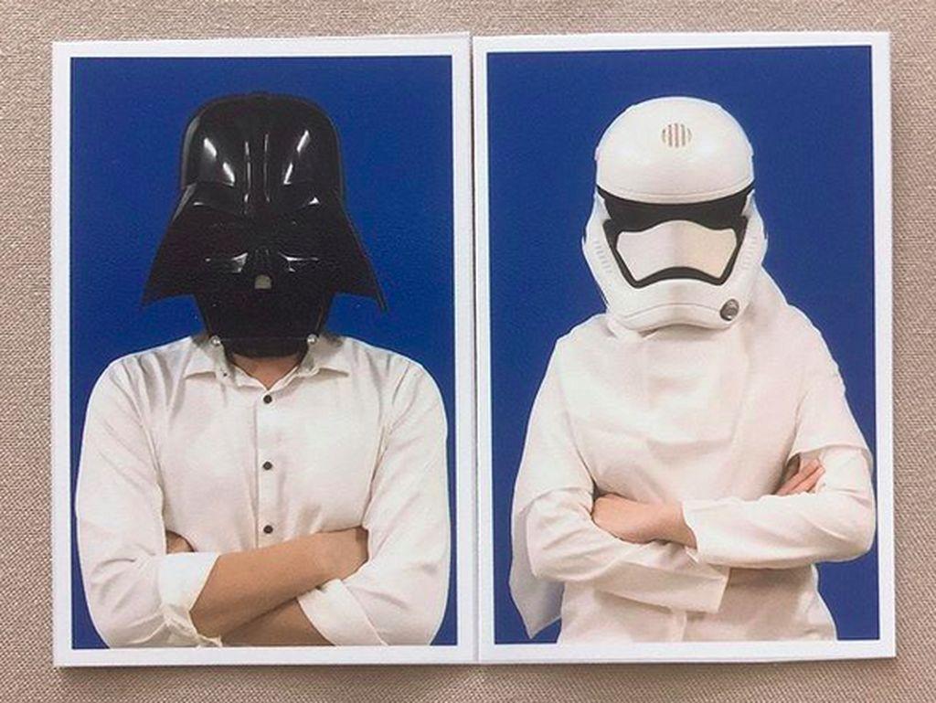 Darth Vader-Kapten Phasma Sabotase Foto Nikah Cut Meyriska dan Roger