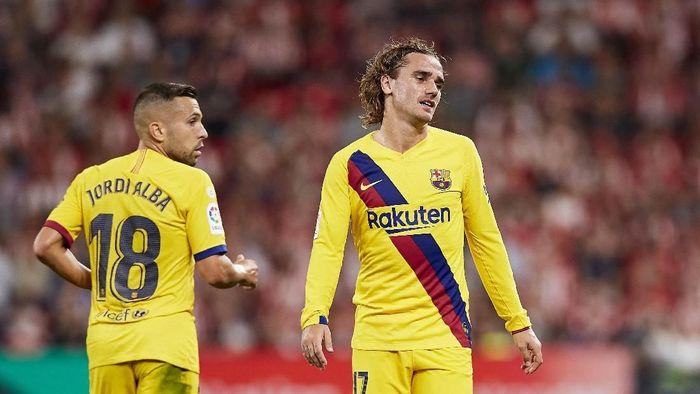 Barcelona tumpul tanpa kehadiran Lionel Messi (AP Photo/Ion Alcoba Beitia)
