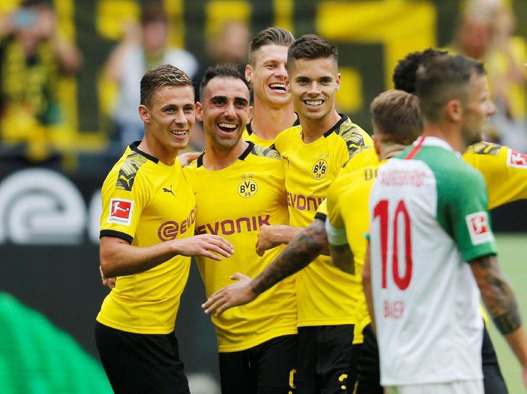 Dortmund Vs Augsburg: Die Borussen Menang 5-1