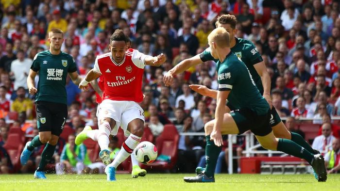 Pierre-Emerick Aubameyang sudah mencetak gol di dua laga pertama Arsenal musim ini. (Foto: Julian Finney/Getty Images)