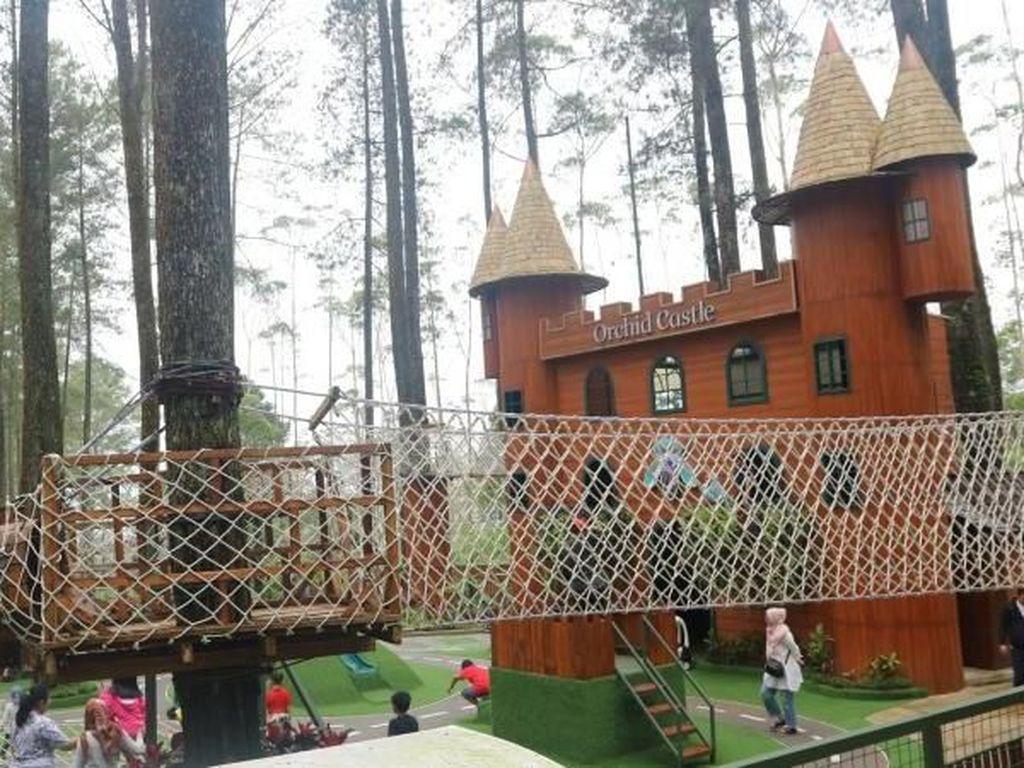 Foto: Kastil di Tengah Hutan Pinus Lembang