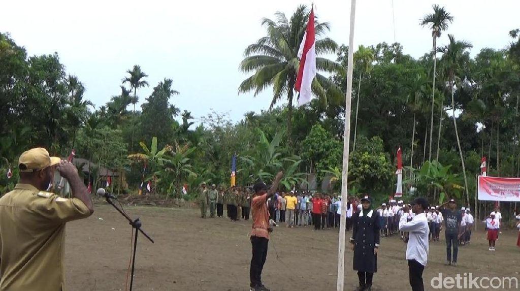 Melihat Desa di Papua yang Baru Pertama Kali Rayakan Kemerdekaan HUT RI