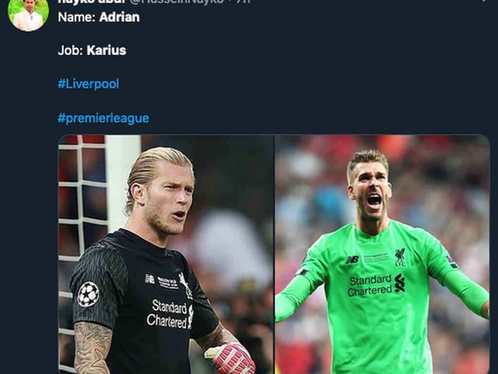 Warganet Beri Nama Baru Buat Kiper Liverpool: Adrian Karius