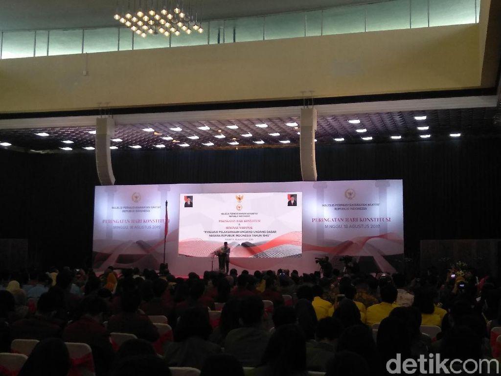 Zulkifli Hasan Kembali Singgung Sistem Model GBHN di Pidato Hari Konstitusi