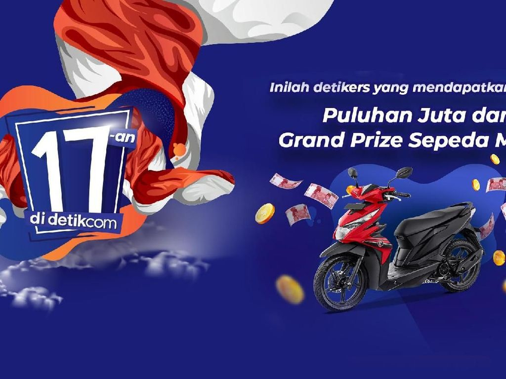 Selamat! Ini Daftar Pemenang Jutaan Rupiah dan Motor 17-an di detikcom