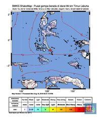 Gempa M 5,0 Guncang Maluku Utara