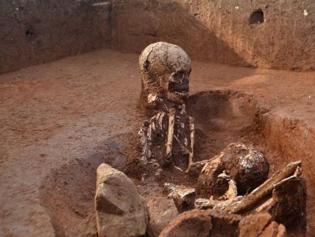 Foto: Situs Purba Penuh Tulang Manusia di Laos
