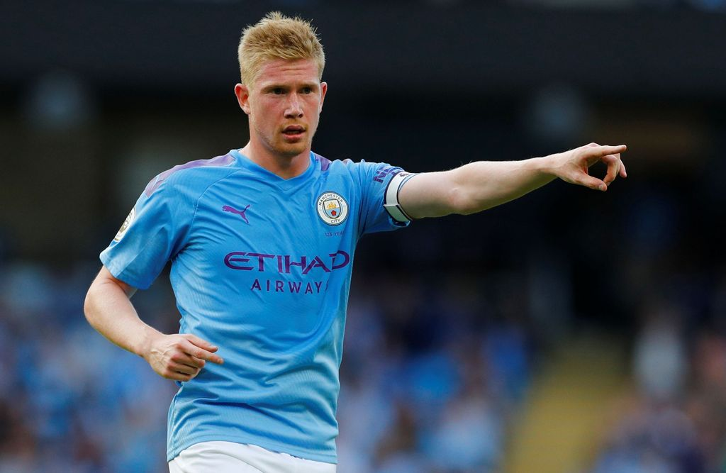 Soccer Football - Premier League - Manchester City v Tottenham Hotspur - Etihad Stadium, Manchester, Britain - August 17, 2019  Manchester City's Kevin De Bruyne gestures   REUTERS/Phil Noble  EDITORIAL USE ONLY. No use with unauthorized audio, video, data, fixture lists, club/league logos or