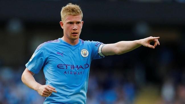 Kevin de Bruyne (Manchester City) disarankan pindah ke PSG demi gelar juara Liga Champions. Foto: Phil Noble/Reuters