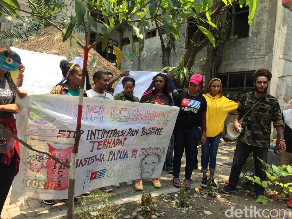 Mahasiswa Papua di USU Ikut Gelar Aksi, Bawa Lambang Bintang Kejora