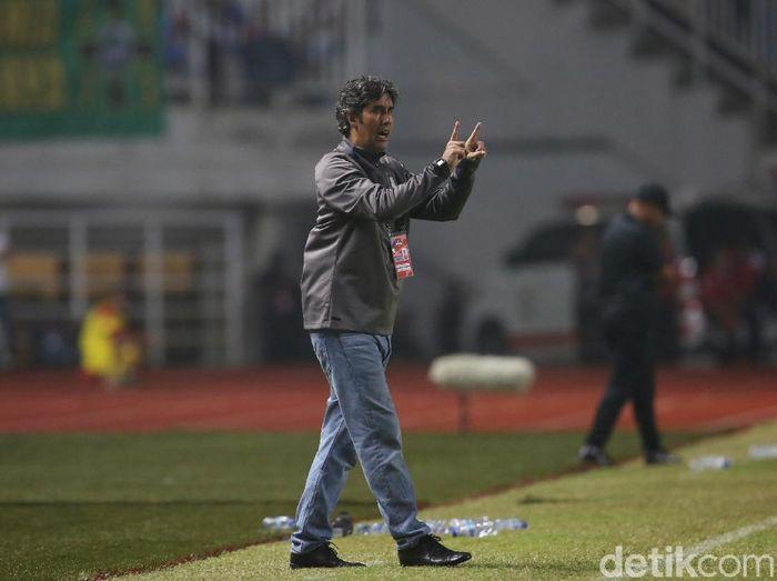 Pelatih Bali United, Stefano Cugurra Teco, mempunyai rekor bagus saat melawan Bhayangkara FC. (Foto: Agung Pambudhy/detikSport)