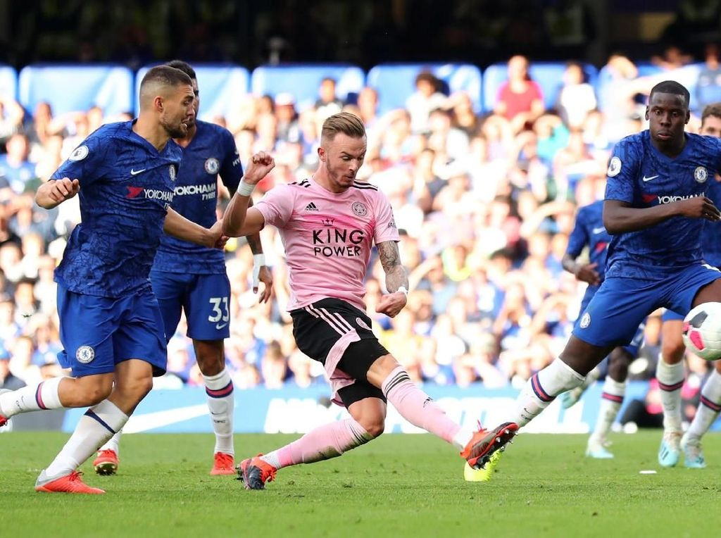 Chelsea Vs Leicester City Tuntas 1-1