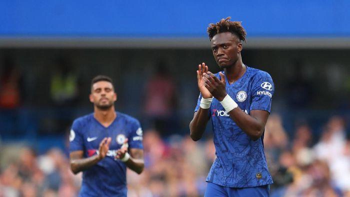 Tammy Abraham mengalami pelecehan rasial usai kekalahan Chelsea dari Liverpool di Piala Super Eropa. ( Foto: Catherine Ivill/Getty Images)