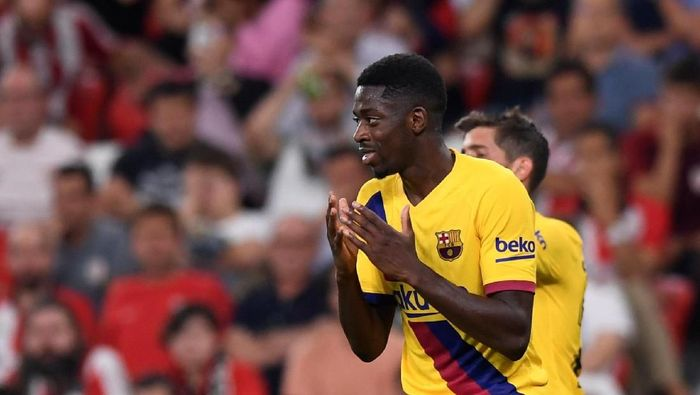 Ousmane Dembele nyaris mengbaiskan separuh waktunya bersama Barcelona di ruang perawatan (REUTERS/Vincent West)