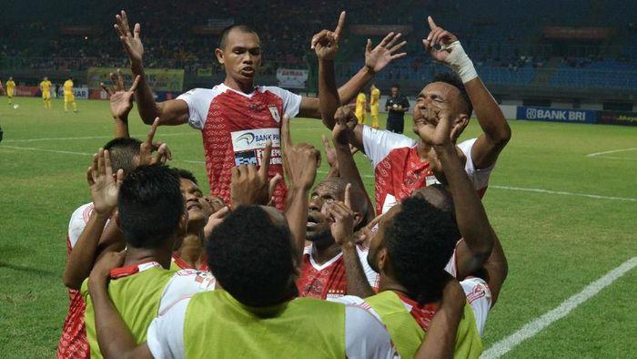 Persipura Jayapura mengandalkan skuat lama di putaran kedua Liga 1 2019. (Foto: Suwandy/Antara)