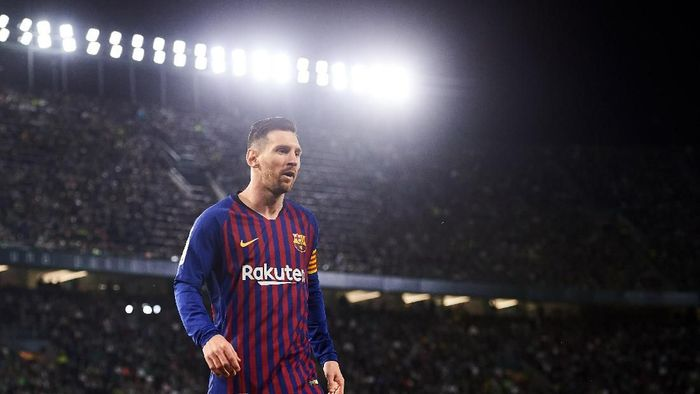 Striker Barcelona Lionel Messi. (Foto: Aitor Alcalde/Getty Images)