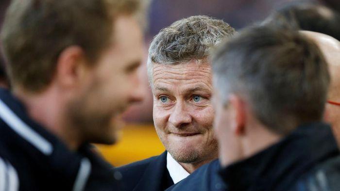 Ole Gunnar Solskjaer menantang para pemain MU mencetak gol kemenangan atas Liverpool. (Foto: Andrew Yates/REUTERS)