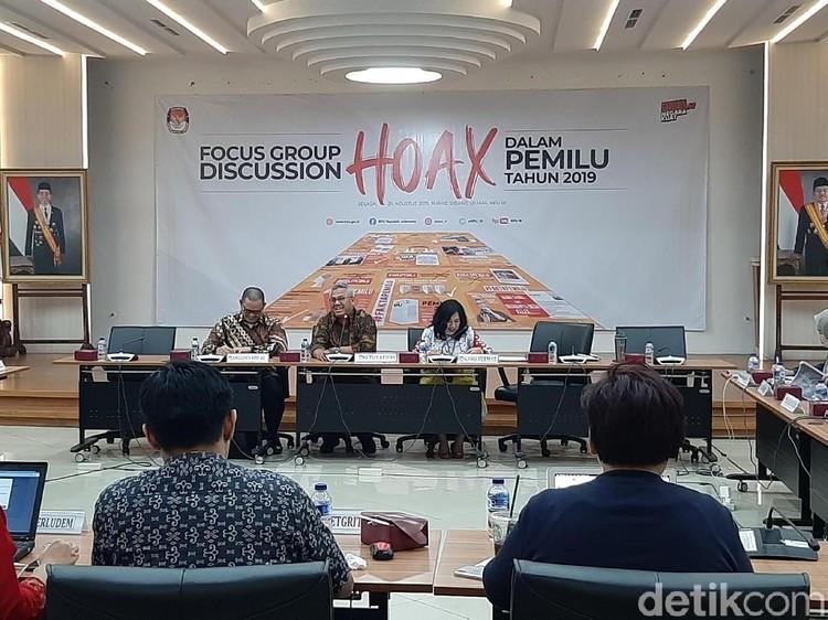 KPU Sebut Serangan Hoaks Meningkat Pesat di Pemilu 2019