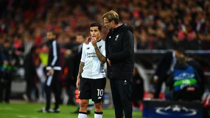 Philippe Coutinho pernah diingatkan Juergen Klopp untuk tidak meninggalkan Liverpool (Dan Mullan/Getty Images)