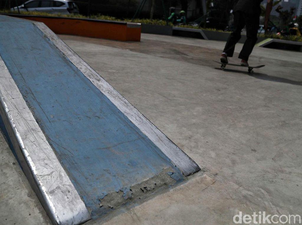 Bina Marga Cek Skate Park Dukuh Atas yang Terkelupas Usai Diresmikan