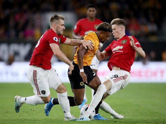 Manchester United menempati posisi keempat klasemen Liga Inggris 2019/2020 pasca ditahan oleh Wolverhampton Wanderers. (Foto: Carl Recine/Reuters)