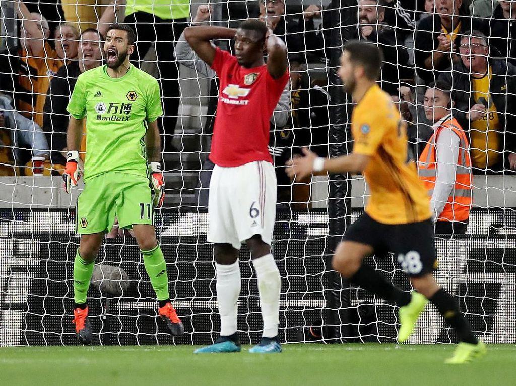 Pogba Gagal Penalti, Wolves Vs MU Berakhir 1-1