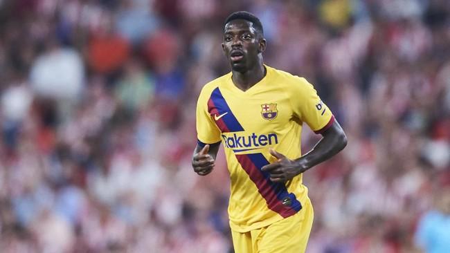 Ousmane Dembele dibujuk Ernesto Valverde dan Eric Abidal agar mau dipinjamkan Barcelona. (Foto: Juan Manuel Serrano Arce / Getty Images)