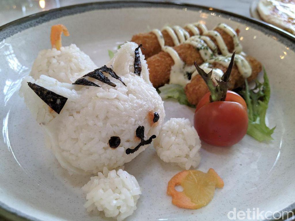 Amyrea Art & Kitchen : Meong! Ada Butter Rice Berbentuk Kucing yang Gurih Wangi di Sini