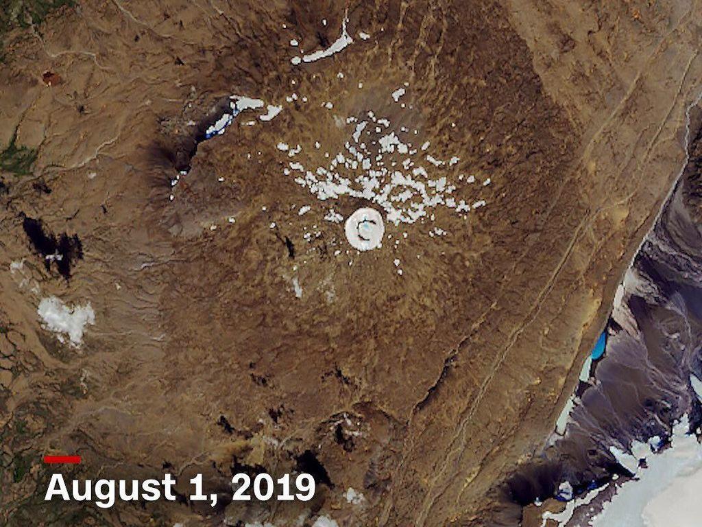 Foto: Kok Gletser Ini Menghilang dari Islandia?